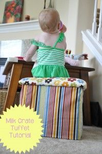 Milk Crate Tuffet Tutorial at Play Learn Love