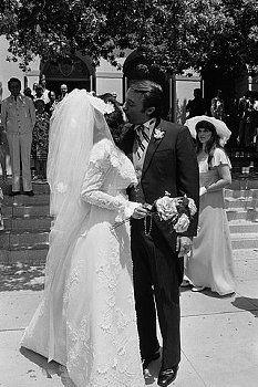 Wedding of Robert Vaughn and Linda Staab. Photographed:July 01, 1974