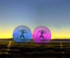 Zorbing by land or by sea.  How cool is that?!