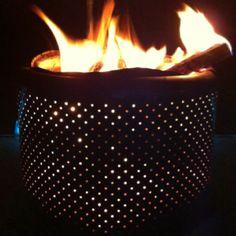 Turn an old washing machine tub into a beautiful fire pit.