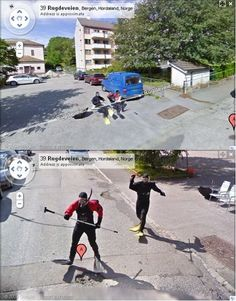 What in the world is happening here!? The Craziest Google Street View Images EVER! Hit the pic to see all the #lol images! #spon