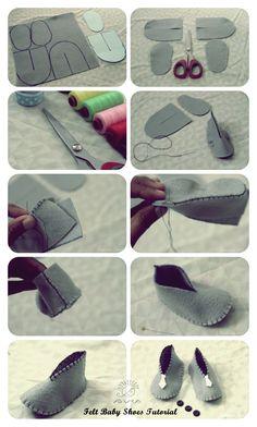 Baby   Shoes   Craft   Felt   DIY