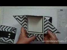 card making video: Six Fold card with Dawn - YouTube .. luv the black and white prints Dwan used ...