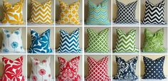 Outdoor 18 x 18 Pillow Covers – 18 Choices! at VeryJane.com