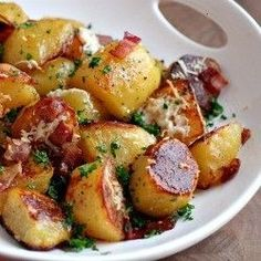 Oven Roasted  : A great roasted potato side dish made with olive oil and herbs.A great roasted potato side dish made with olive oil and herbs. They are a superb accompaniment for roast turkey, beef or pork. Perfect as a substitute for mashed at holiday meals. Surprisingly, they go very well with gravy.