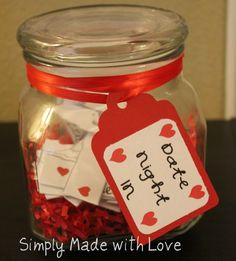 Date Night In- Jar- perfect valentine's gift for  HIM
