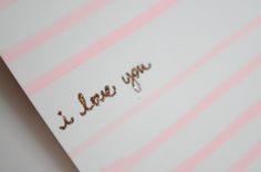 Glitter & Glue i love you