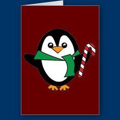 Candy Cane Penguin Card by fstasu58