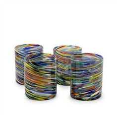 Carnival Recycled Tumbler Glass - Set of 4