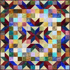 "FREE pattern: ""Playing with All Your Marbles"" quilt (from Fabri-Quilt)"