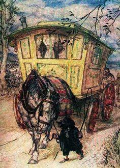 willows, rackham book, arthur rackham illustrations, tale art, vardo art, children books, gypsi, willow arthur, book illustr