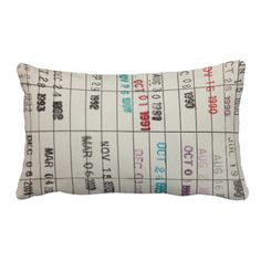 """Printable Library Cards Pillows -- Same """"library card"""" theme is available in other products at the click-through site: t-shirts, ornaments, commuter bags, more..."""