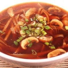 Chinese Spicy Hot And Sour Soup. You'll find dried lily buds and wood ear mushrooms at an Asian market