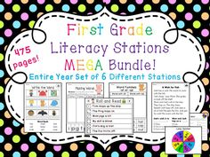 475 pages of first grade literacy stations!! 6 different year sets of stations all focused/organized by phonics sounds - You'd be set for the whole year! :)