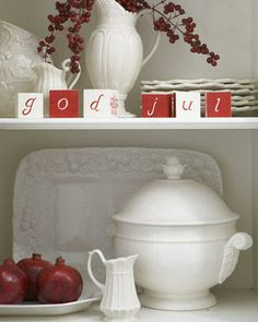 make red and white Scentsy blocks for Christmas display