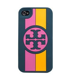 Rosyln Logo Stripe Silicone Phone Case | Womens Tech Accessories | ToryBurch.com