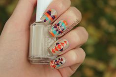 Gorgeous tribal/aztec nails