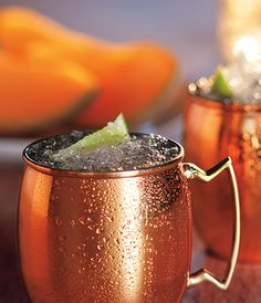 A Grey Goose Melon Mule. A twist on a classic, this delicious blend of sweet and spice highlights the full ripeness of the Cavaillon melon.