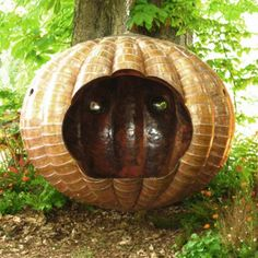 This hanging lounge looks like a gourd to me. Also looks pretty cool.