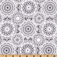Michael Miller It's A Girl Thing Doily Dance Gray
