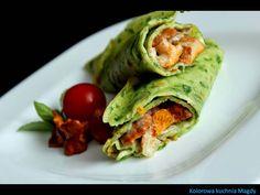 Kolorowa Kuchnia Magdy: Zielone naleśniki z kurkami