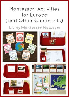 Ideas for using the Trillium Montessori 7 Continents A-Z Bundle to prepare Montessori activities for a study of Europe (applicable to other continents as well)