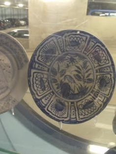 Plate in Delft Museum.