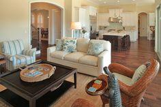 Davis Islands Canal Home - beach-style - Living Room - Tampa - Devonshire Custom Homes