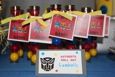 Transformers Birthday Party Favors #transformers #partyfavors