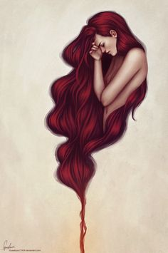 THIS is perfect for my mermaid tattoo! I love her hair so much!!