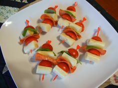 Shelly's Pizza Skewers