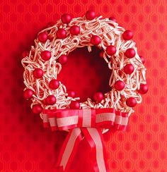 How to make a peppermint wreath: http://www.midwestliving.com/homes/seasonal-decorating/beautiful-holiday-wreaths/?page=2