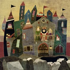 Castle by schalle on Etsy, $25.00