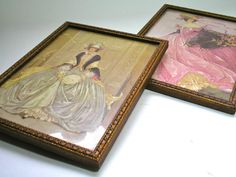 Two Vintage Women's Fashion Dresses Framed Prints by borahstyle, $55.00