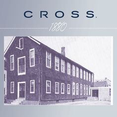 Pinterest Pin - A. T. Cross Factory at 53 Warren Street, Providence, RI was operated by a steam engine of 10 horse powers. By early 1881 the Cross manufacturing building on this site was completed and would serve the company for the next 80 years.