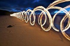 lights, light painting, lightpainting, long exposur, beach