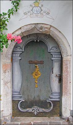 beauti portal, color door, window, amaz door, beauti st, painted doors, st wolfgang, amazing doors, austria