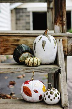 DIY: Foilage Decoupage Pumpkins