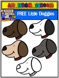 (FREE) Little Doggies Clip Art Set