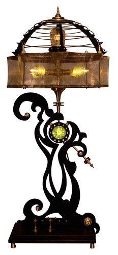 STEAMPUNK TABLE LAMP THIN WHITE DUKE
