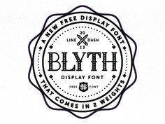 Blyth Font Logo - Nick Slater