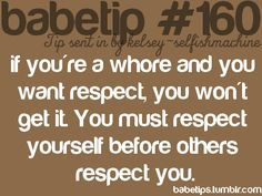 to the whores out there...