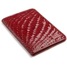 Cole Haan Hand-Woven Patent Leather Kindle Cover with Hinge (Fits 6