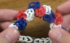 Zig zag pattern bracelet on rainbow loom which I just got