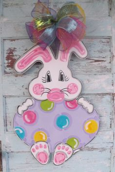 Easter Bunny Door Hanger Easter Egg Door by BluePickleDesigns, SALE PRICE: $40.00 plus ship! Be sure to check my Etsy shop announcements for coupon codes!!