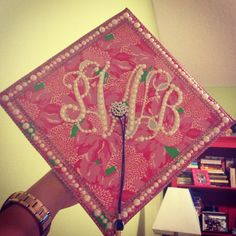 Monogram. Lilly. Pearls. Graduating in style