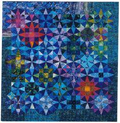 """Surge"" by Jenny Bowker:  kaleidoscope and nine patch blocks"