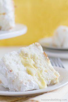 Lemon Meringue Angel Cake #desserts #dessertrecipes #yummy #delicious #food #sweet