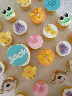 happy birthdays, child birthday, baby animal cupcakes, themed cupcakes, birthday cupcakes, cute animal cupcakes, cupcakes animals, 2nd birthday, baby animals