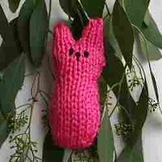 A knit version of a cherished Easter candy, this free knitting pattern will help you hold onto marshmallow peeps even after the holiday has passed.  Knit your own Pink Bunny Peep Show using this easy-to-follow design.